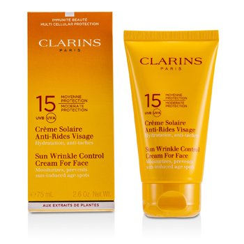 Clarins Sun Wrinkle Control Cream Moderate Protection For Face SPF 15