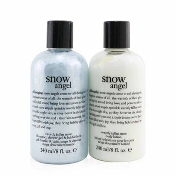 Philosophy Snow Angel Duo: Shower Gel 240ml + Body Lotion 240ml