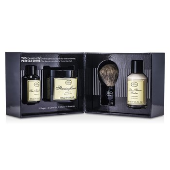 The Art Of Shaving The 4 Elements Of The Perfect Shave - Unscented (New Packaging) (Pre Shave Oil + Shave Crm + A/S Balm + Brush)