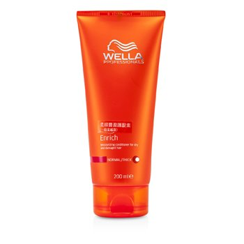 Wella Enrich Moisturizing Conditioner For Dry & Damaged Hair (Normal/ Thick)