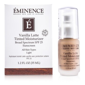 Eminence Vanilla Latte Tinted Moisturizer Broad Spectrum SPF 25 Sunscreen - Light