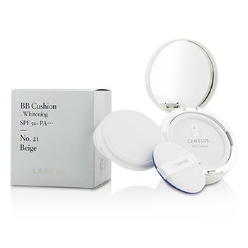 Laneige BB Cushion Foundation (Whitening) SPF 50 With Extra Refill - # No. 21 Natural Beige