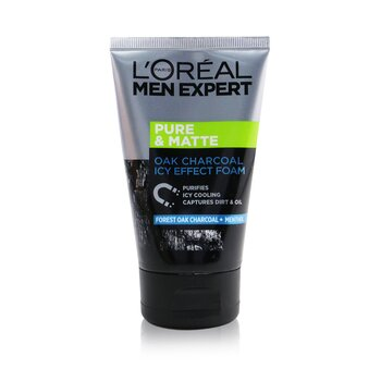 LOreal Men Expert Pure & Matte Icy Effect Charcoal Black Foam