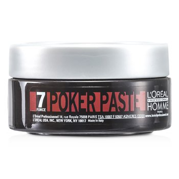 LOreal Professionnel Homme Poker Paste (Reworkable Compact Paste, Extreme Hold)