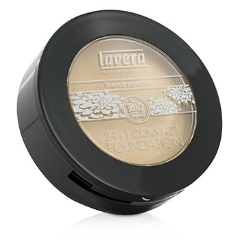Lavera 2 In 1 Compact Foundation - # 01 Ivory