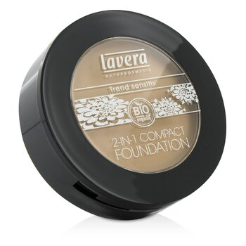 Lavera 2 In 1 Compact Foundation - # 03 Honey