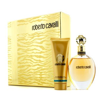 Roberto Cavalli Roberto Cavalli (New) Coffret: Eau De Parfum Spray 75ml + Body Lotion 75ml (Gold Box)