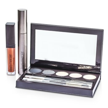 Laura Mercier Classic Smoky Eye Palette Collection (1xMascara, 1xLip Glace, 1xCake Eye Liner, 4xEye Colour, 3xBrush)