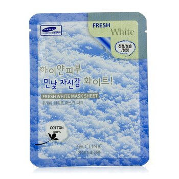 3W Clinic Mask Sheet - Fresh White