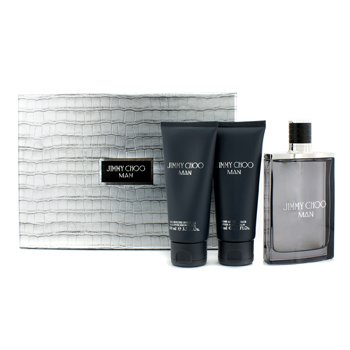Jimmy Choo Man Coffret: Eau De Toilette Spray 100ml + After Shave Balm 100ml + All Over Shower Gel