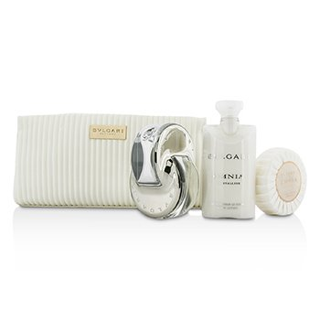 Bvlgari Omnia Crystalline Coffret: Eau De Toilette Spray 65ml + Soap 75g + Body Lotion 75ml + Pouch