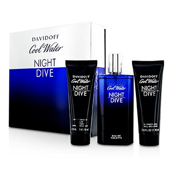 Davidoff Cool Water Night Dive Coffret: Eau De Toilette Spray 125ml + After Shave Balm 75ml + Shower Gel 75ml