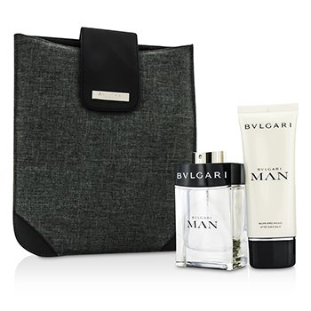 Bvlgari Man Coffret: Eau De Toilette Spray 100ml + After Shave Balm 100ml + Bag