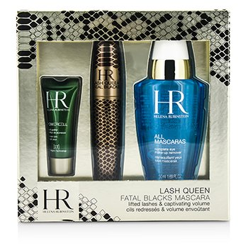 Helena Rubinstein Lash Queen Fatal Blacks Mascara Kit: Mascara 7.2ml + MakeUp Remover 50ml + Powercell 3ml