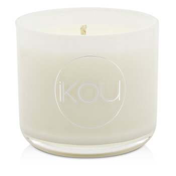 iKOU Eco-Luxury Aromacology Natural Wax Candle Glass - Happiness (Coconut & Lime)