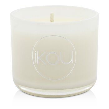 iKOU Eco-Luxury Aromacology Natural Wax Candle Glass - Zen (Green Tea & Cherry Blossom)