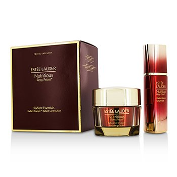 Estee Lauder Nutritious Rosy Prism Set: Radiant Essence 30ml + Radiant Gel Emulsion 50ml