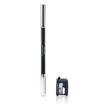 Clarins Long Lasting Eye Pencil with Brush - # 01 Carbon Black (With Sharpener)