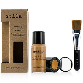 Stay All Day Foundation, Concealer & Brush Kit - # 12 Tan (Box Slightly Damaged)