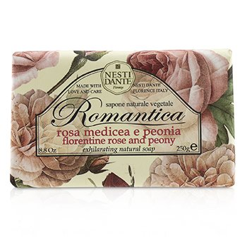 Nesti Dante Romantica Exhilarating Natural Soap - Florentine Rose & Peony
