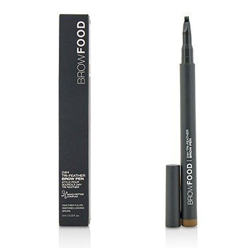 LashFood BrowFood 24H Tri Feather Brow Pen - Brunette