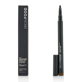 LashFood BrowFood 24H Tri Feather Brow Pen - Dark Brunette
