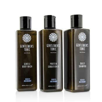 Shower Gift Set: Gentle Body Wash 250ml + Daily Shampoo 250ml + Protein Conditioner 250ml
