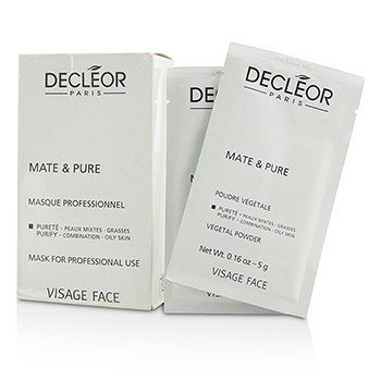 Decleor Mate & Pure Mask Vegetal Powder - C/O Skin (Salon Size, Box Slightly Damaged)