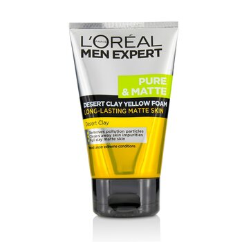 LOreal Men Expert Pure & Matte Desert Clay Yellow Foam