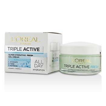 LOreal Triple Active Super Hydrating Fresh Gel-Cream - For Normal To Combination Skin