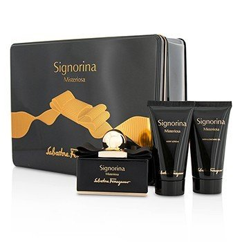 Salvatore Ferragamo Signorina Misteriosa Coffret: Eau De Parfum Spray 50ml + Body Lotion 50ml + Bath & Shower Gel 50ml