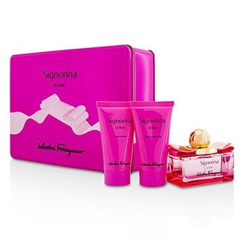 Salvatore Ferragamo Signorina In Fiore Coffret: Eau De Toilette Spray 50ml + Body Lotion 50ml + Shower Gel 50ml