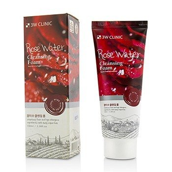 3W Clinic Cleansing Foam - Rose Water