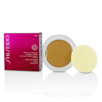 Shiseido Sheer & Perfect Compact Foundation SPF 21 (Refill) - # B60 Natural Deep Beige