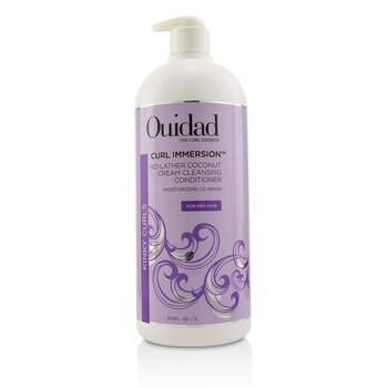 Ouidad Curl Immersion No-Lather Coconut Cream Cleansing Conditioner (Kinky Curls)