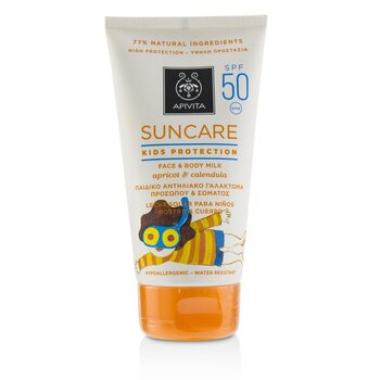Suncare Kids Protection Face & Body Milk SPF 50 With Apricot & Calendula