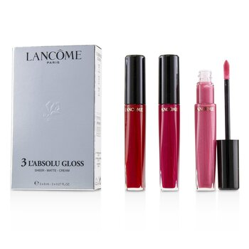 Lancome 3 Labsolu Gloss (#317 Sheer, #378 Matte, #132Cream)