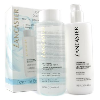 Lancaster Softening Duo (Limited Edition): Cleansing Milk 400ml + Toner 400ml