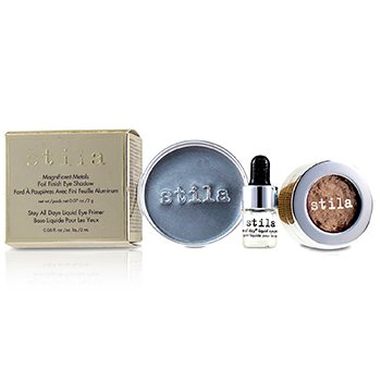 Stila Magnificent Metals Foil Finish Eye Shadow With Mini Stay All Day Liquid Eye Primer - Metallic Kitten