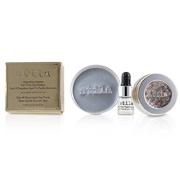 Stila Magnificent Metals Foil Finish Eye Shadow With Mini Stay All Day Liquid Eye Primer - Metallic Dusty Rose
