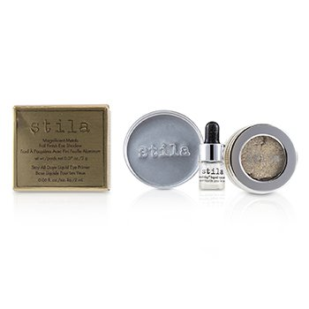 Stila Magnificent Metals Foil Finish Eye Shadow With Mini Stay All Day Liquid Eye Primer - Metallic Pixie Dust