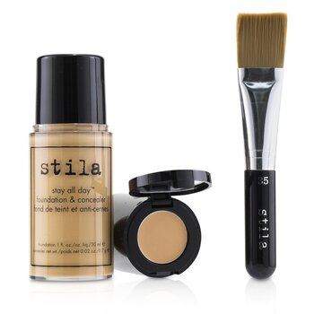 Stila Stay All Day Foundation, Concealer & Brush Kit - # 6 Tone