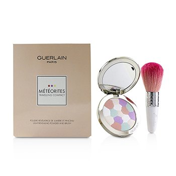 Guerlain Meteorites Travelling Compact Light Revealing Powder And Brush - (2 Clair/Light)