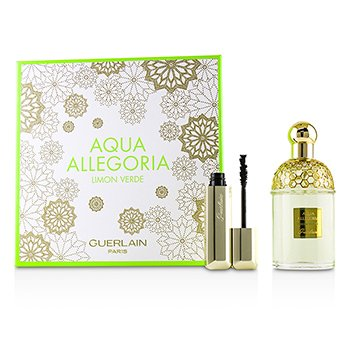 Guerlain Aqua Allegoria Limon Verde Coffret: Eau De Toilette Spray 125ml + Cils DEnfer Maxi Lash Volume Creating-Curl Sculpting Mascara 01 Noir 8.5ml