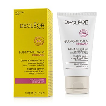 Decleor Harmonie Calm Organic Soothing Comfort Cream & Mask 2 In 1 - For Sensitive Skin