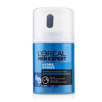 LOreal Men Expert Hydra Power Refreshing Face Gel To 48 Hours Hydration & Comfort