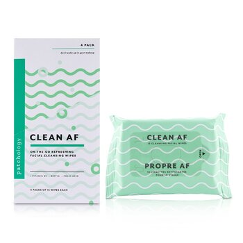 Patchology Clean AF On-The-Go Refreshing Facial Cleansing Wipes