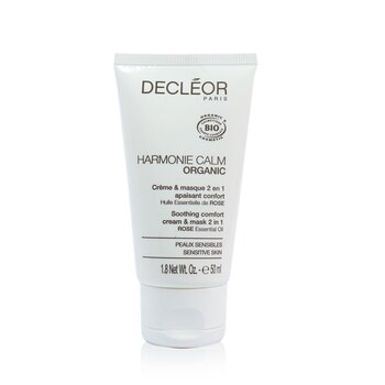 Decleor Harmonie Calm Organic Soothing Comfort Cream & Mask 2 In 1 - For Sensitive Skin (Salon Product)