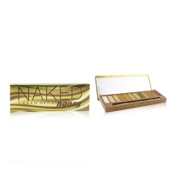 Urban Decay Naked Honey Eyeshadow Palette (12x Eyeshadow, 1x Doubled Ended Smudger/ Tapered Crease Brush)