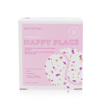 Patchology Moodpatch - Happy Place Inspiring Tea-Infused Aromatherapy Eye Gels (Rose+Hibiscus+Lotus Flower)